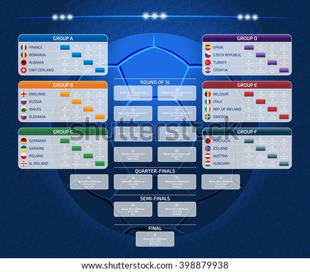 match schedule template web print football のベクター画像素材