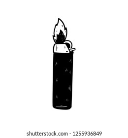 matches lighter doodle icon vector