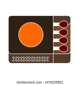 matches Packag icon. flat illustration of matches Packag vector icon. matches Packag sign symbol