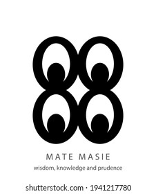 Mate Masie african adinkra symbol, symbol of wisdom, knowledge and prudence