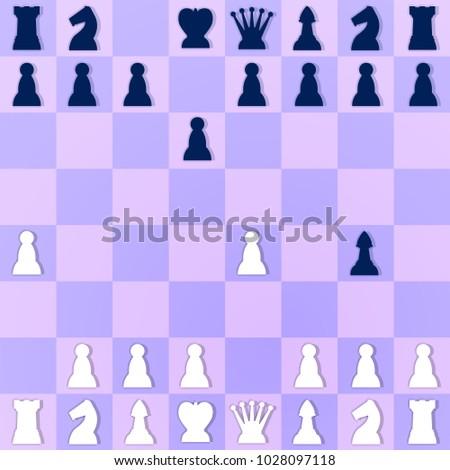 Mate Situation Chess Checkmate Setup Illustration Stock