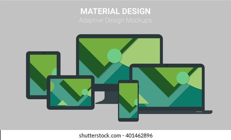 Material design concept of responsive and adaptive webdesign technology