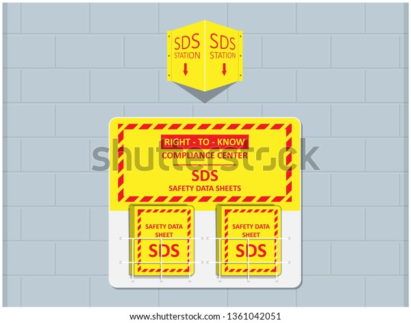 Material Safety Data Sheet Hazard Safe Stock Vector Royalty Free 1361042051