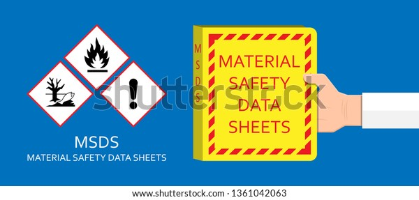 Material Safety Data Sheet Hazard Safe Stock Vector Royalty Free 1361042063