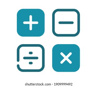 math calculate accounting single isolated icon with solid line style
