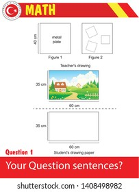 Math - exponential numbers, question template, for teachers, picture, sample picture, picture of the teacher, picture area of the student to draw, image paper, size, area, calculation, drawing area