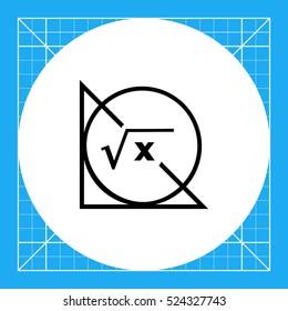 Math Formula, Circle and Triangle Icon