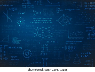 math formula or education background vector illustration