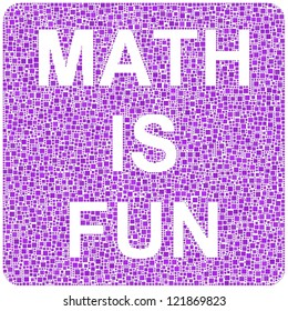 Math is Fun! Mosaic of purple squares accurately tiled