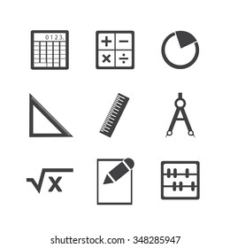 Math icon set.