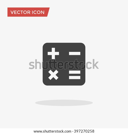 Math Icon Trendy Flat Style Isolated Stock Vector Royalty Free