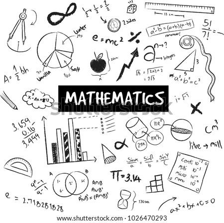 math theory mathematical formula equation model のベクター画像素材
