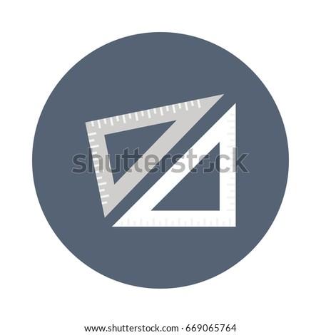 math tool vector flat icons stock vector royalty free 669065764