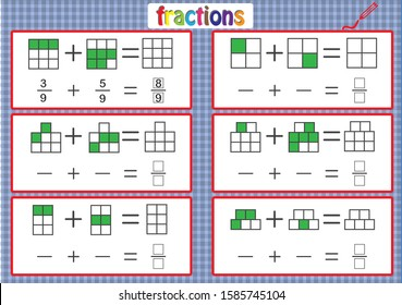 math worksheet for kids, fractions activities