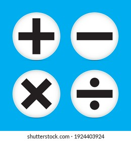 Mathematic symbol icon vector illustration