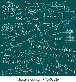 Mathematical equations and formulas - vector illustration