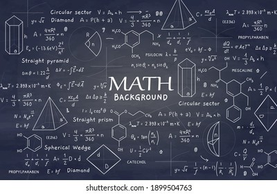 mathematical formulas and geometry vector illustration