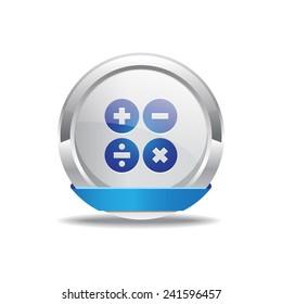 Mathematical Sign Blue Vector Icon Button