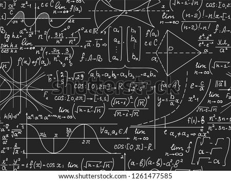 Mathematical vector seamless pattern