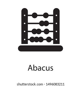 Mathematics abacus vector in solid design