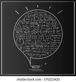 Mathematics formula cloud. Design concept