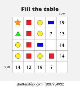 Middle school stock vectors images vector art shutterstock mathematics game with pictures geometric shapes for children middle level education game ibookread ePUb