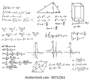 mathematics and geometry vector set