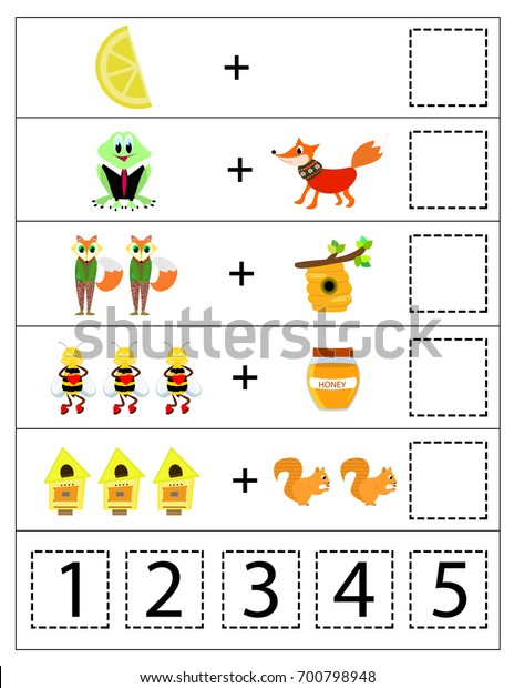 image about Printable Kids Game titled Arithmetic Little ones Match Children Printable Recreation Inventory Vector