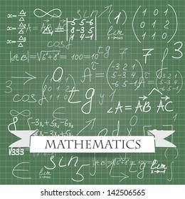 mathematics. vector background eps10