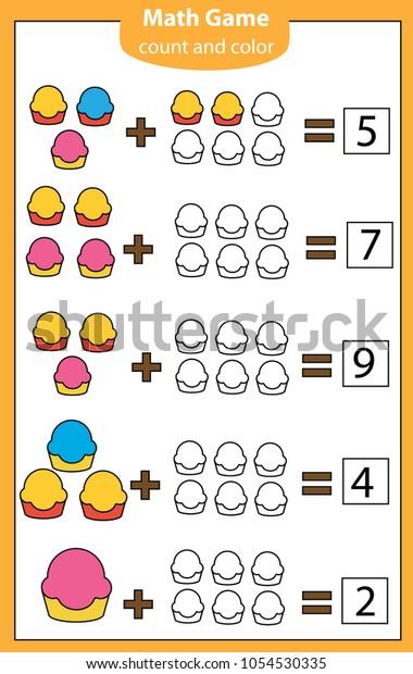 Mathematics Workshhet Eduational Game Children Counting ...