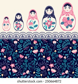 matreshka, set of nesting dolls