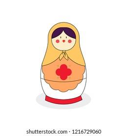 Matrioshka vector illustration. Russian doll vector