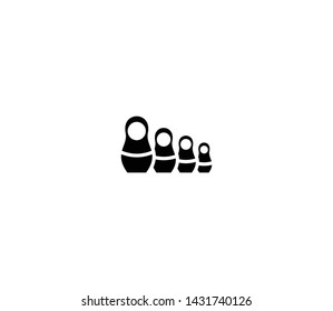 Matryoshka dolls vector isolated flat illustration. Matryoshka dolls icon