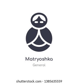 matryoshka icon. isolated matryoshka icon vector illustration from general collection. editable sing symbol can be use for web site and mobile app
