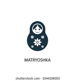Matryoshka icon. Simple element illustration. Matryoshka concept symbol design from Russia collection. Can be used for web and mobile.