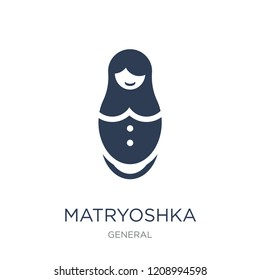 matryoshka icon. Trendy flat vector matryoshka icon on white background from General collection, vector illustration can be use for web and mobile, eps10