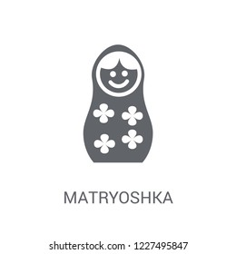 matryoshka icon. Trendy matryoshka logo concept on white background from General collection. Suitable for use on web apps, mobile apps and print media.
