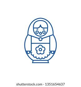 Matryoshka line icon concept. Matryoshka flat  vector symbol, sign, outline illustration.