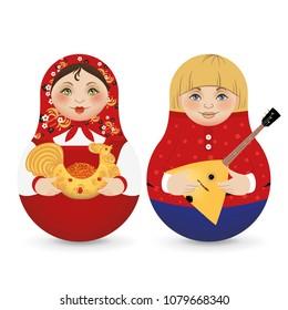 Matryoshka. Traditional russian wooden doll