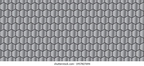 Matte color Hexagon abstract background