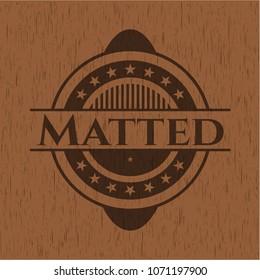 Matted vintage wood emblem