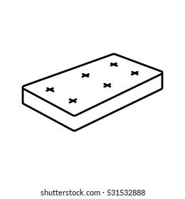 mattress icon  - vector illustration.