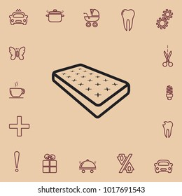 Mattress outline icon, vector design element