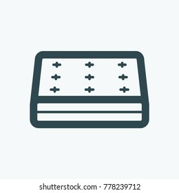 Mattress vector icon