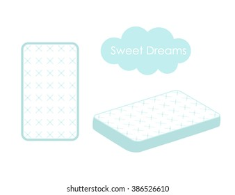 Mattress  vector logo design template Isolated on a white background