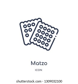 matzo icon from religion outline collection. Thin line matzo icon isolated on white background.