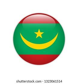 Mauritania flag on button