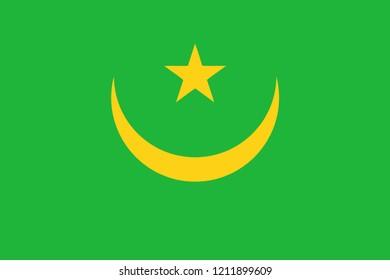 Mauritania Flag vector illustration
