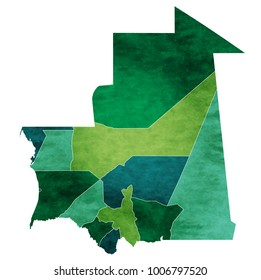 Mauritania World map country icon