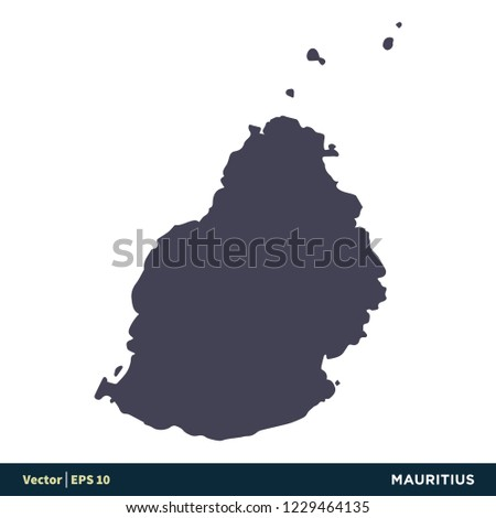 Mauritius Africa Countries Map Icon Vector Stock Vector Royalty